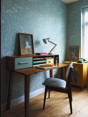 Bertie desk, oliverbonas.com; wallpaper, hannahnunn.co.uk.