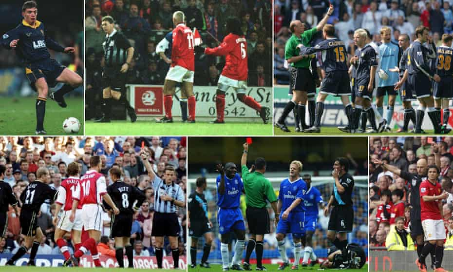 Six red cards that tell a story.