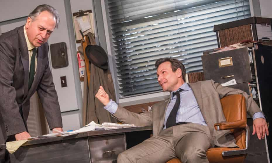 'Coffee is for closers' … Stanley Townsend and Christian Slater in the current production of Glengarry Glen Ross.