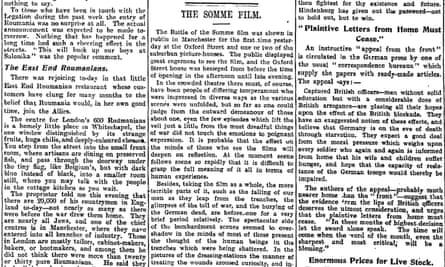 Manchester Guardian, 29 August 1916.