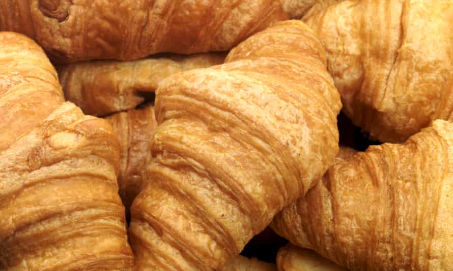 Croissants made with butter.
