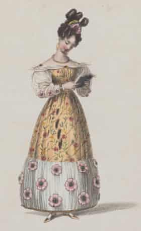 A giraffe-coloured dress from 1828