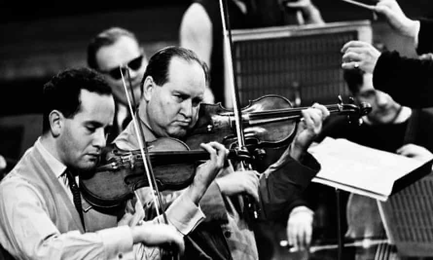 Igor Oistrakh, left, and his father, David, in 1961.