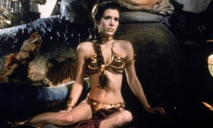 Carrie Fisher in the 'Slave Leia' outfit