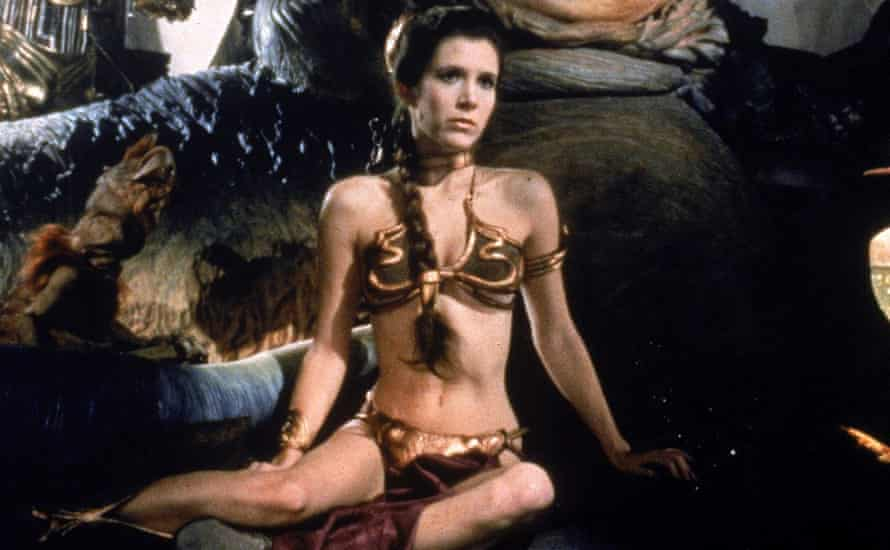 Carrie Fisher in Return of the Jedi.