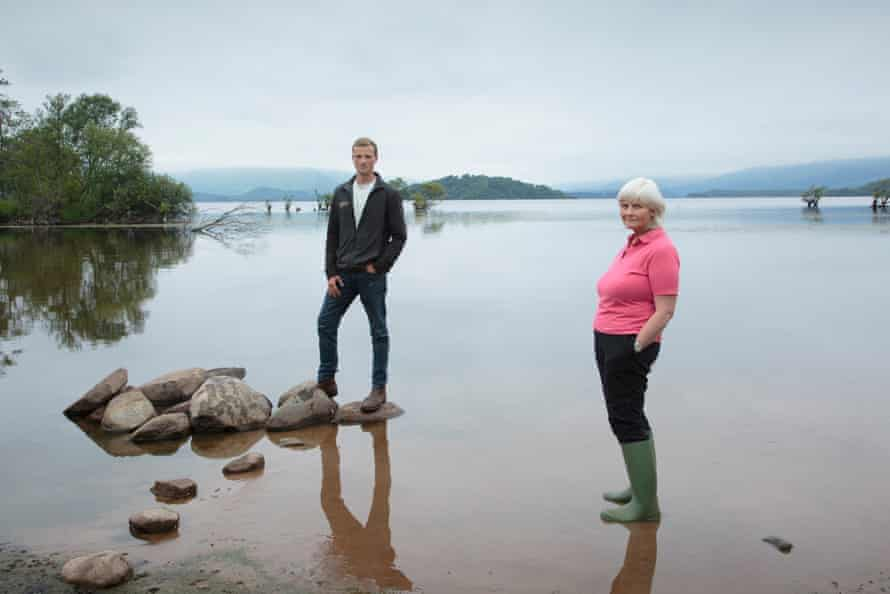 Freda Scott-Park (right) and her son, Chris, on the shores of Loch Lomond