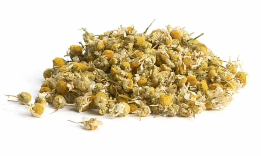 Flower power: dried chamomile tea.