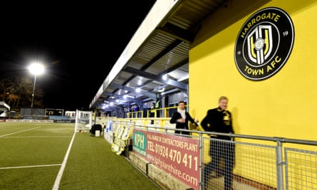 Fans at Harrogate's Wetherby Road Stadium