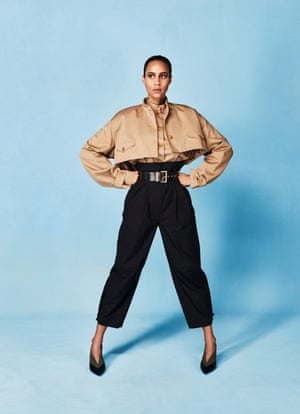 Shirt, jacket, trousers, belt and shoes, all givenchy.com