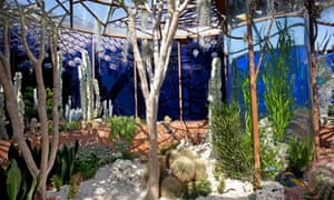 The Pearlfisher garden at the RHS Chelsea flower show, 2018, through which Karen Welman highlighted the problem of plastic pollution in our oceans.