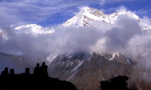 Nanda Devi in the Indian Himalayas. Rescue teams could take three days to reach the climbers' last known camp.