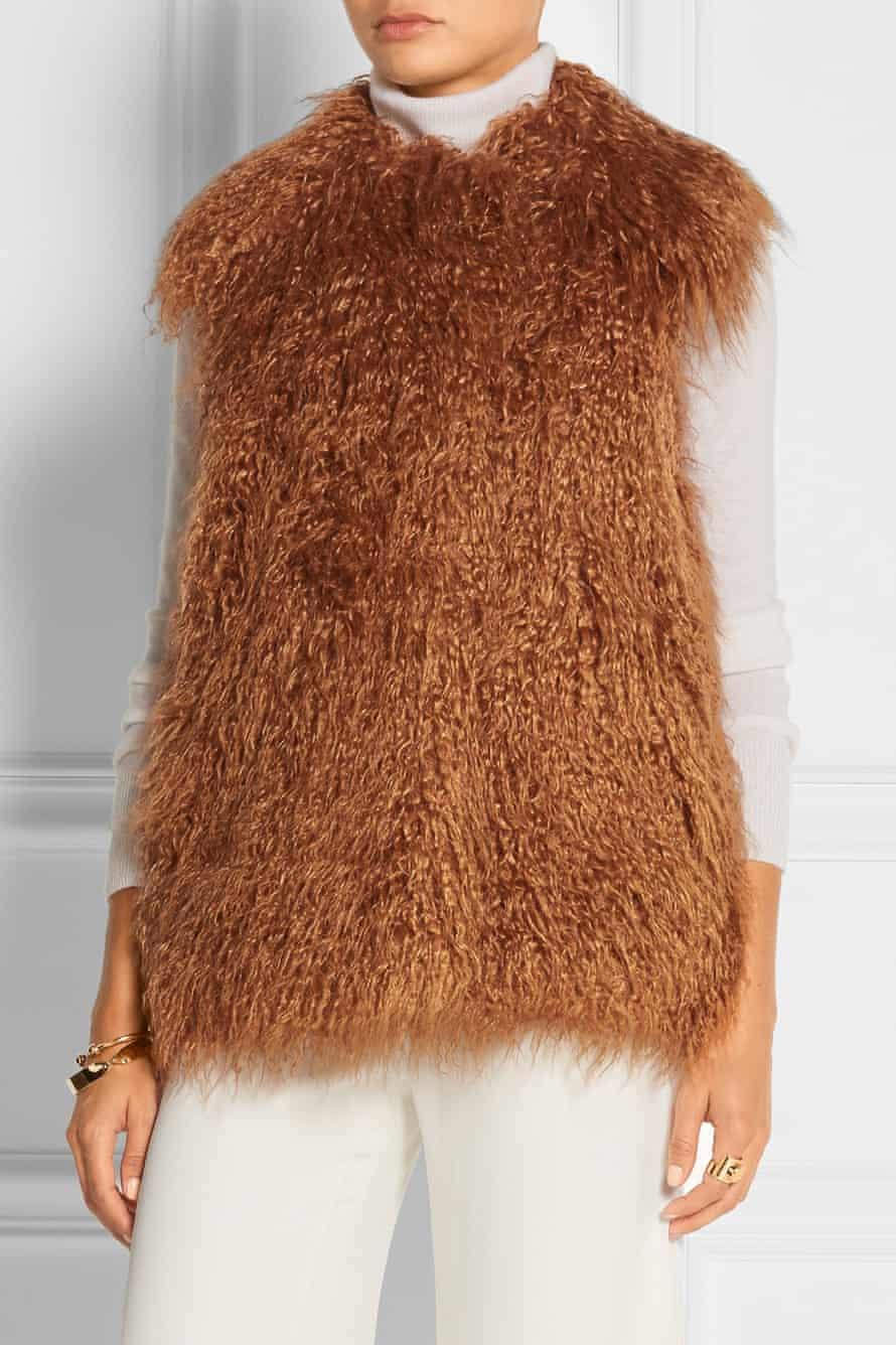 Stella McCartney faux fur gilet, £550.