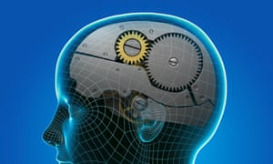 Thought Mechanism08 Dec 2011 --- A side view of a human female head with the human mind represented as a gear system. --- Image by Science Picture Co./Corbis