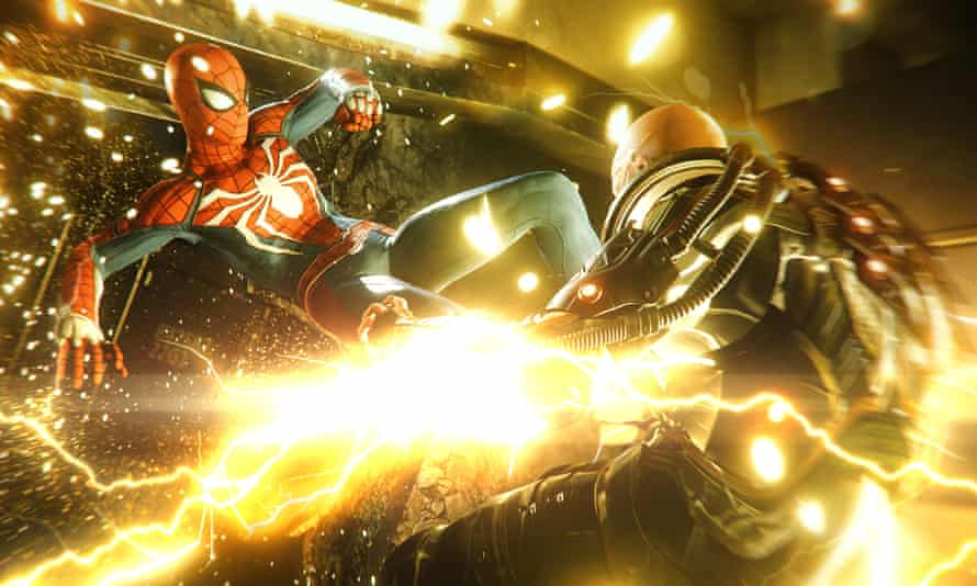 Rapid descents into fisticuffs … Marvel's Spider-Man.