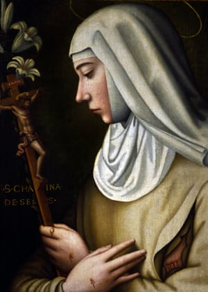 St Catherine of Sienna de Ricci by Plautilla Nelli, a self-taught nun-artist and the first-known female Renaissance painter of Florence.