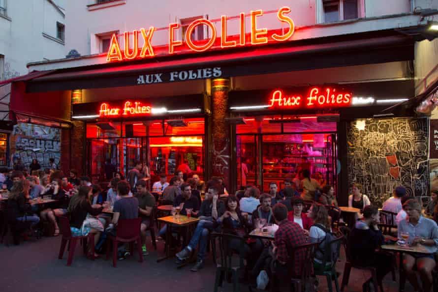Bar Aux Folies Belleville, Paris, France
