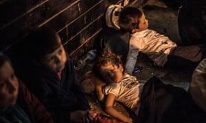 Afghan children sleeping in Athens featured in the BBC2 documentary Exodus: Our Journey to Europe.