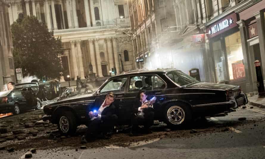 London calling … Chris Hemsworth and Tessa Thompson in Men in Black: International.