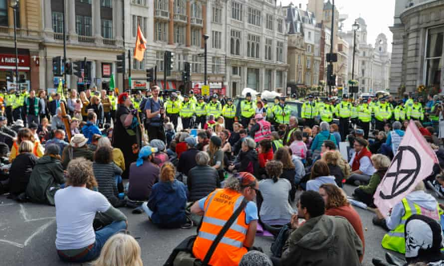 Extinction Rebellion protesters in London