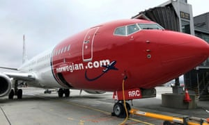 A Norwegian Air plane is refuelled at Oslo Gardermoen airport, Norway.
