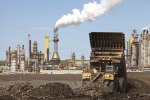 The Syncrude upgrader plant: the tar sands are the largest industrial project on the planet