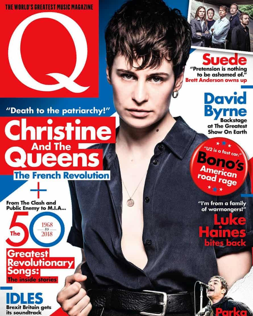 Christine and the Queens on the cover of Q magazine in 2018.
