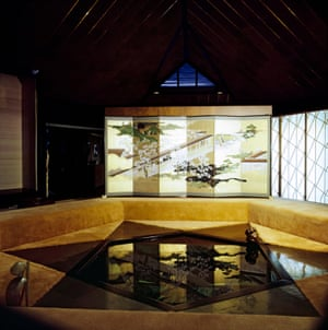 A decorative pool in the gallery of Shin'En Kan, Bartlesville, Oklahoma.