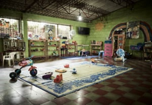 Toys laid out in the prison's nursery ready for the children