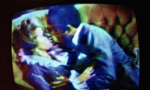 A TV love scene