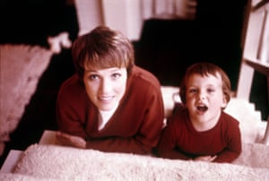 Julie Andrews with her daughter Emma Walton Hamilton in the 1960s.