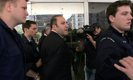 Tony Mokbel arrives at the supreme court in Athens, where he was fighting extradition to Australia