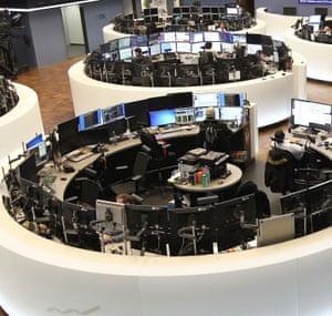 The German stock exchange in Frankfurt