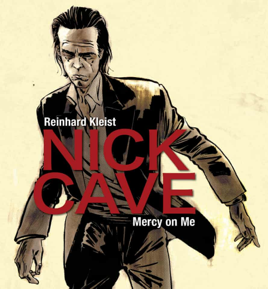 Drawing of Nick Cave on the cover of a comic book