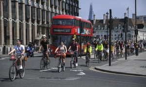 Cyclists in Parliament Square