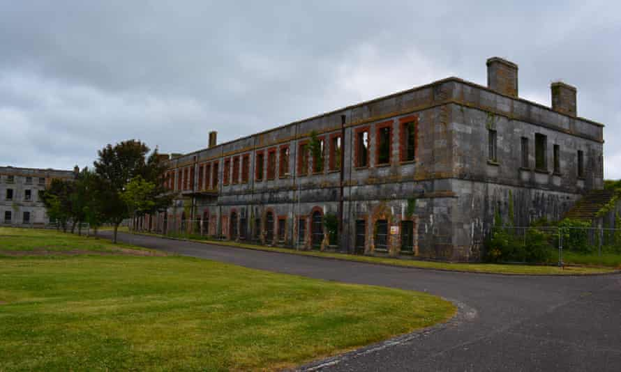 Spike Island Prison Building off coast of Cobh Cork Ireland