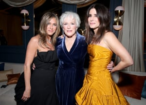 Jennifer Aniston, Glenn Close and Sandra Bullock at the Netflix afterparty