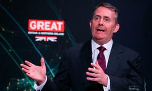 Liam Fox is accused of rewriting trade policy behind closed doors.
