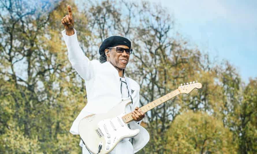 Nile Rodgers perfoms at Hyde Park in 2015