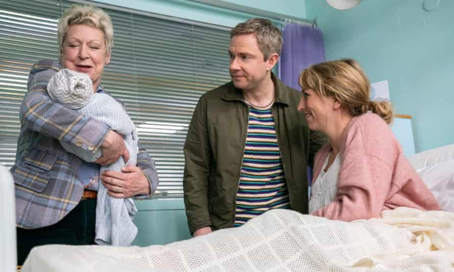In the family way ... Martin Freeman and Daisy Haggard in Breeders.