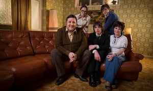 From the TV show of Cradle to Grave with Laurie Kynaston (centre) playing the young Danny Baker.