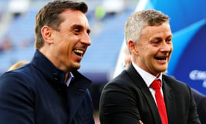 Gary Neville and Manchester United manager Ole Gunnar Solskjær