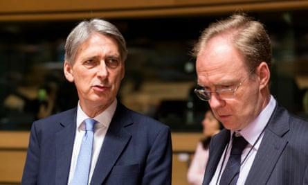 Philip Hammond and Sir Ivan Rogers