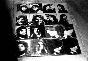 Andy Warhol silkscreen canvases of Jacqueline Kennedy, New York 1964