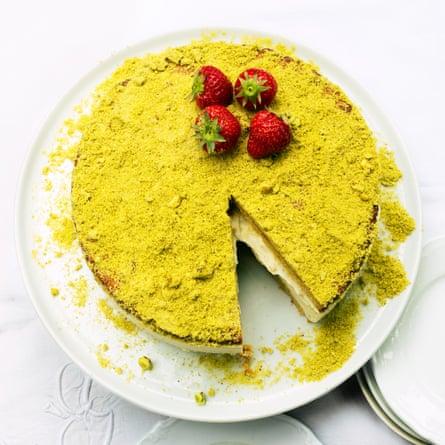 Pistachio ricotta cake.