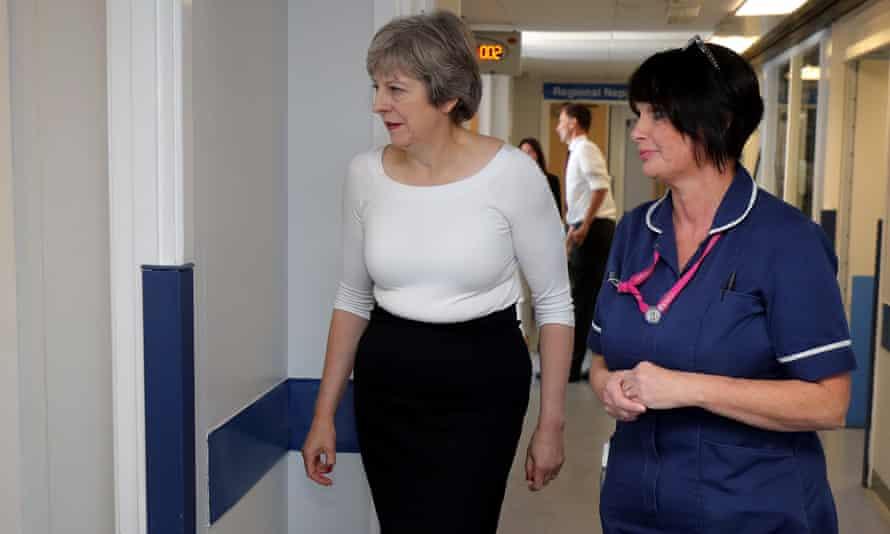 Theresa May visits renal transplant unit