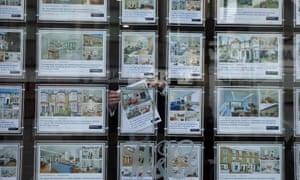 Estate agent's window