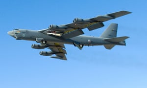 A US air force b52 bomber