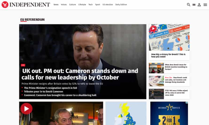 The Independent: traffic rose almost 44% month on month in June