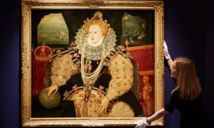 The Armada portrait of Queen Elizabeth I circa 1590.
