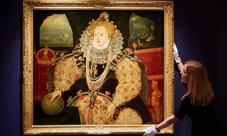 The Armada portrait of Queen Elizabeth I circa 1590.
